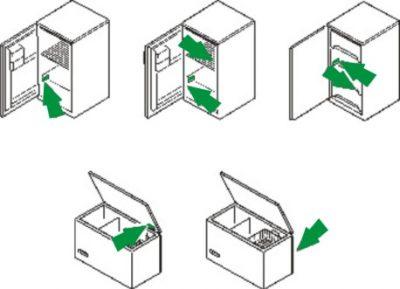 Hűtőszekrény adattábla